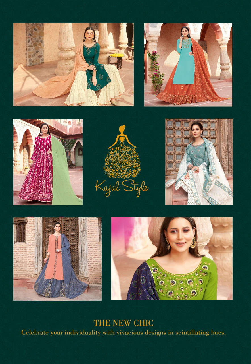 Kajal Style Gulzar Vol 5 Kurti with Dupatta Bottom Wholesale Catalog 8 Pcs 1 - Kajal Style Gulzar Vol 5 Kurti with Dupatta Bottom Wholesale Catalog 8 Pcs