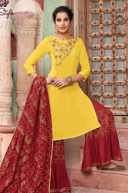 Kajal Style Gulzar Vol 5 Kurti with Dupatta Bottom Wholesale Catalog 8 Pcs - Kajal Style Gulzar Vol 5 Kurti with Dupatta Bottom Wholesale Catalog 8 Pcs