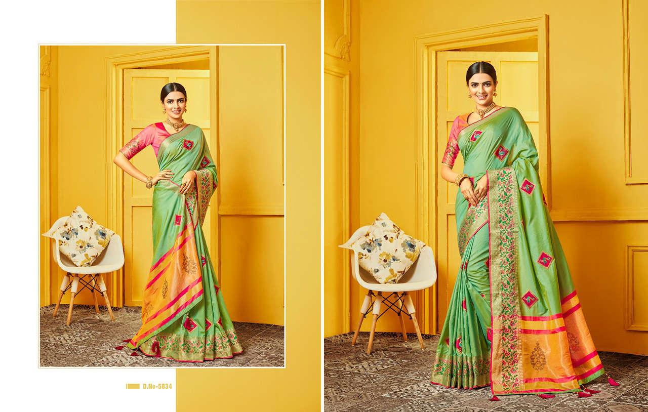 Kessi Raj Gharana Saree Sari Wholesale Catalog 8 Pcs 1 - Kessi Raj Gharana Saree Sari Wholesale Catalog 8 Pcs