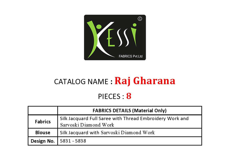 Kessi Raj Gharana Saree Sari Wholesale Catalog 8 Pcs 10 - Kessi Raj Gharana Saree Sari Wholesale Catalog 8 Pcs