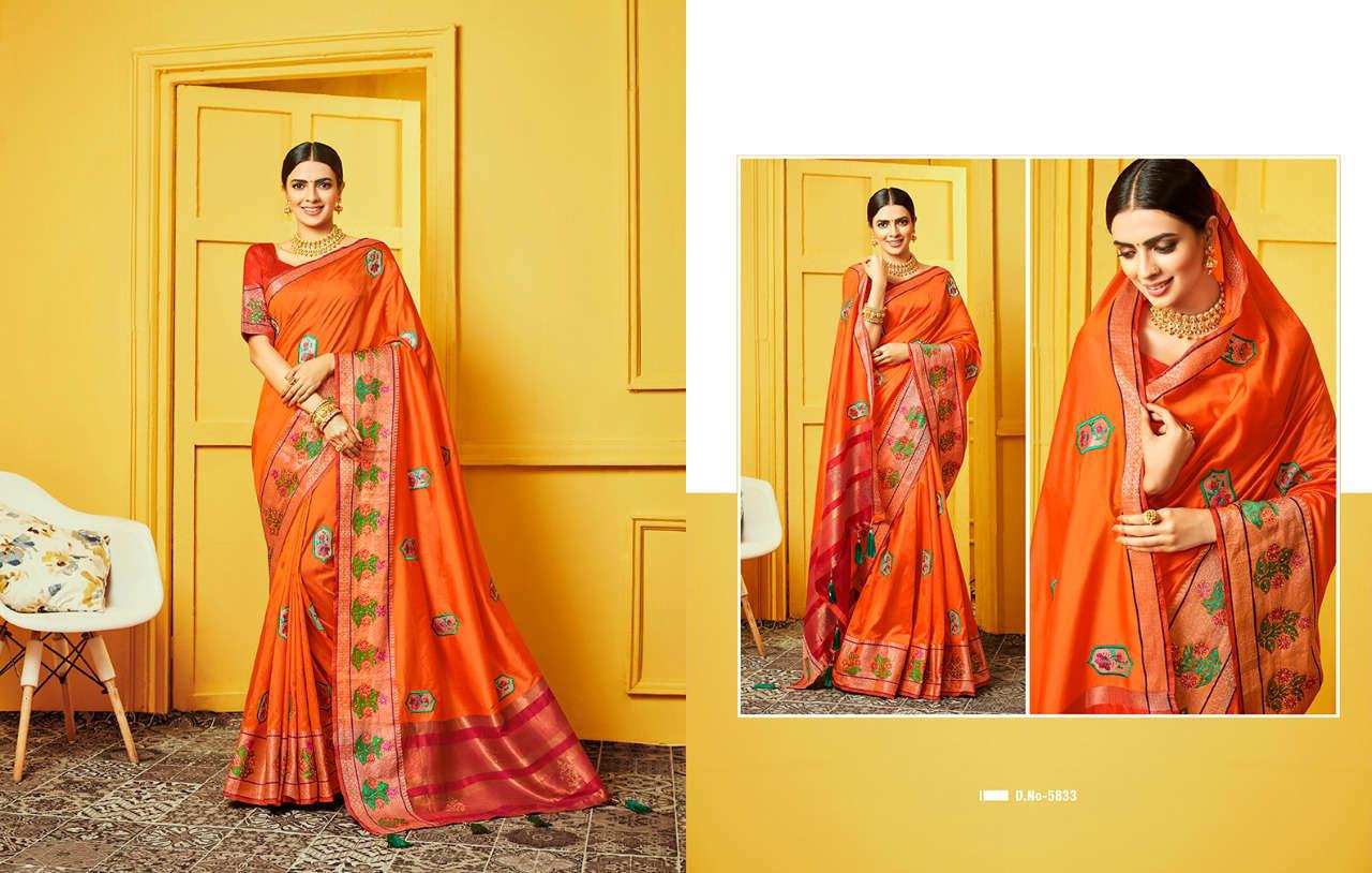 Kessi Raj Gharana Saree Sari Wholesale Catalog 8 Pcs 5 - Kessi Raj Gharana Saree Sari Wholesale Catalog 8 Pcs