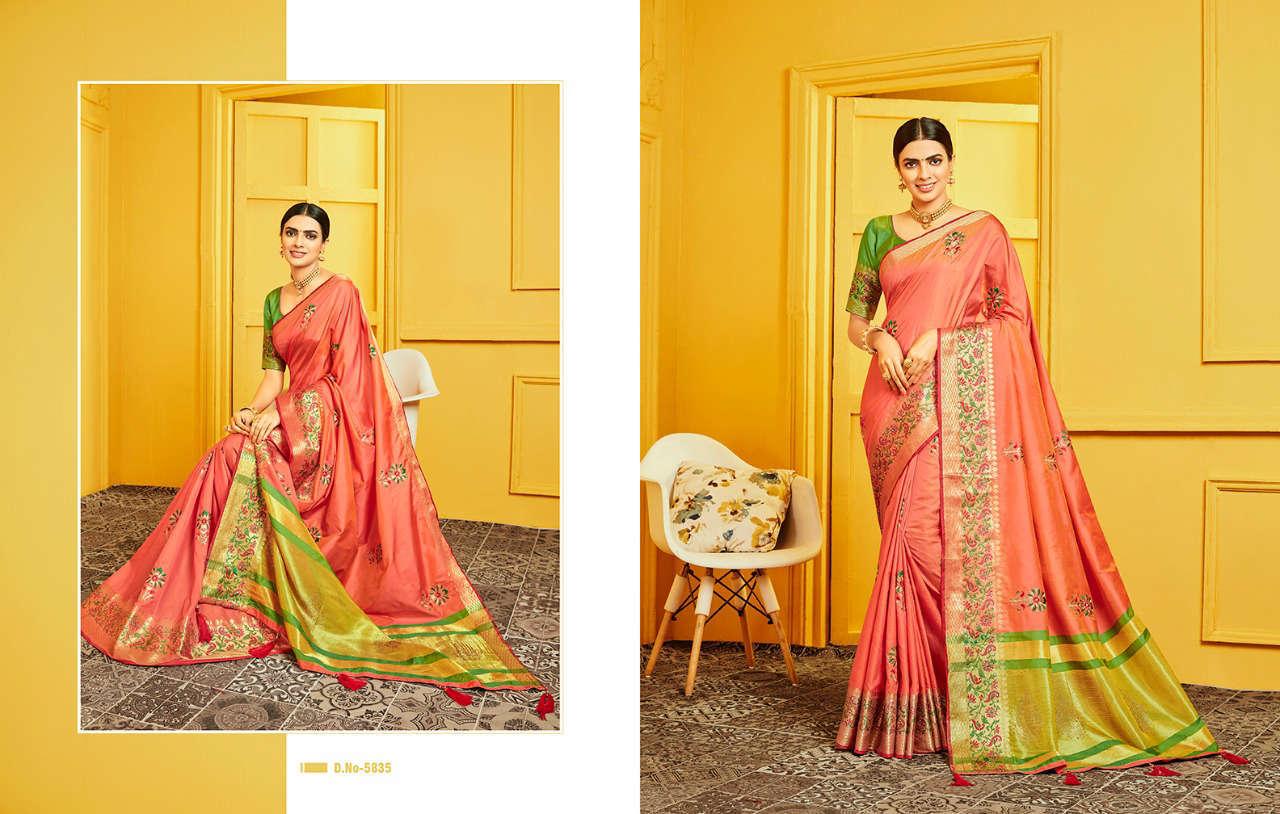 Kessi Raj Gharana Saree Sari Wholesale Catalog 8 Pcs 7 - Kessi Raj Gharana Saree Sari Wholesale Catalog 8 Pcs