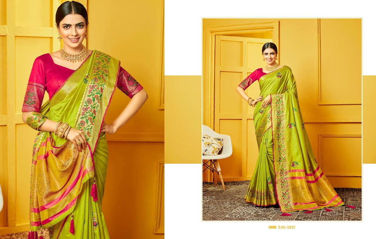 Kessi Raj Gharana Saree Sari Wholesale Catalog 8 Pcs 9 - Kessi Raj Gharana Saree Sari Wholesale Catalog 8 Pcs