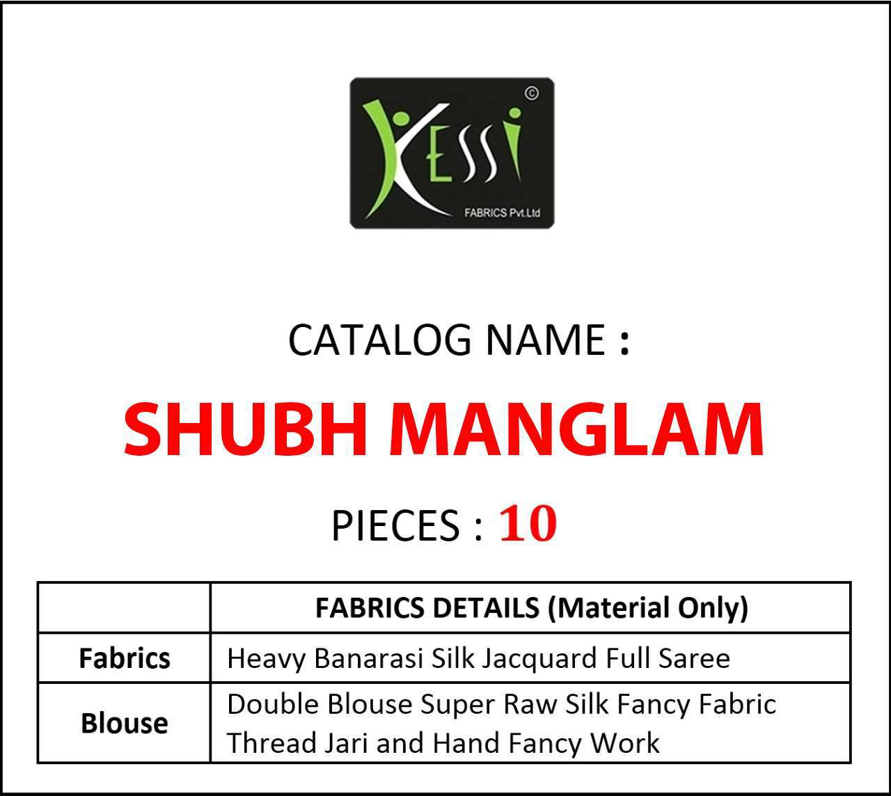 Kessi Shubh Manglam Double Blouse Saree Sari Wholesale Catalog 10 Pcs 13 - Kessi Shubh Manglam Double Blouse Saree Sari Wholesale Catalog 10 Pcs