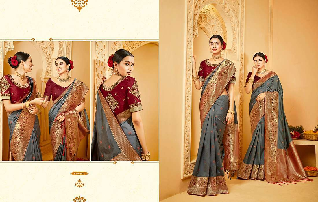 Kessi Shubh Manglam Double Blouse Saree Sari Wholesale Catalog 10 Pcs 5 - Kessi Shubh Manglam Double Blouse Saree Sari Wholesale Catalog 10 Pcs