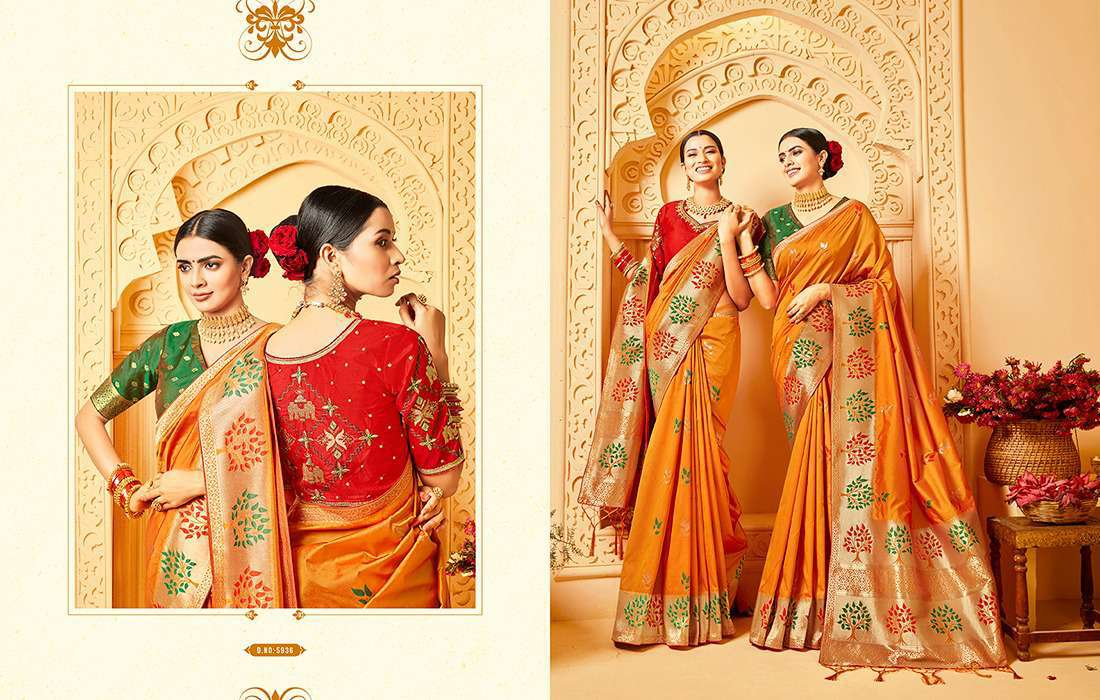 Kessi Shubh Manglam Double Blouse Saree Sari Wholesale Catalog 10 Pcs 7 - Kessi Shubh Manglam Double Blouse Saree Sari Wholesale Catalog 10 Pcs