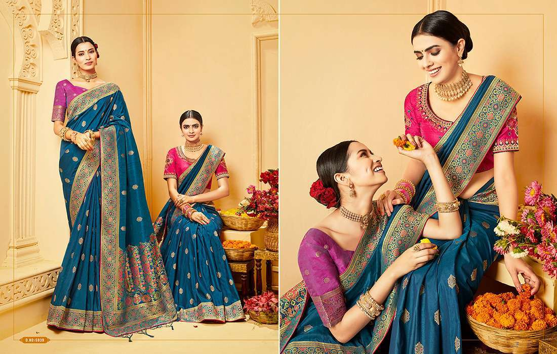 Kessi Shubh Manglam Double Blouse Saree Sari Wholesale Catalog 10 Pcs 8 - Kessi Shubh Manglam Double Blouse Saree Sari Wholesale Catalog 10 Pcs