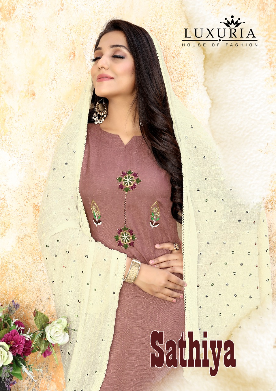 Luxuria Sathiya Kurti with Dupatta Wholesale Catalog 4 Pcs 4 - Luxuria Sathiya Kurti with Dupatta Wholesale Catalog 4 Pcs