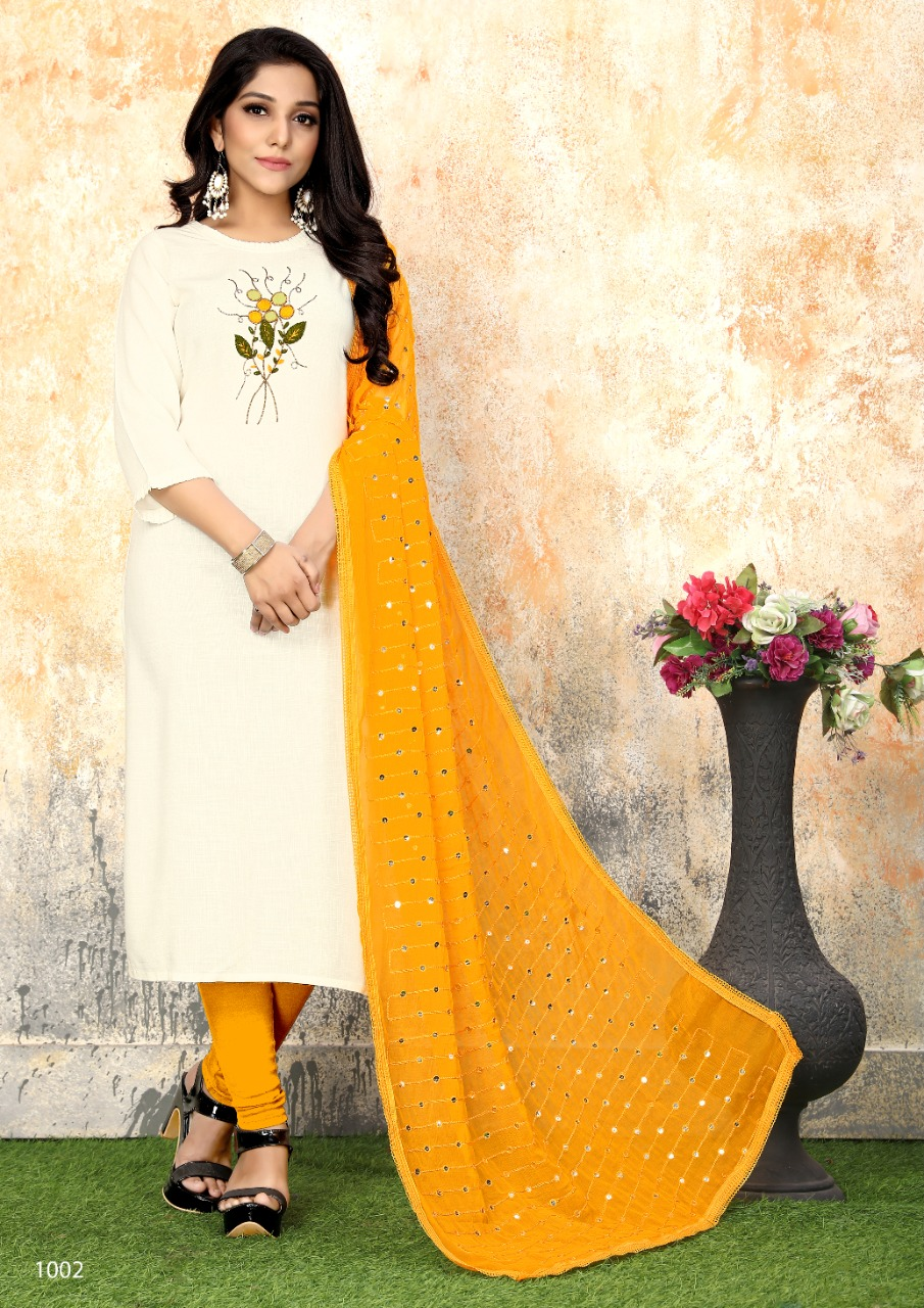 Luxuria Sathiya Kurti with Dupatta Wholesale Catalog 4 Pcs 5 - Luxuria Sathiya Kurti with Dupatta Wholesale Catalog 4 Pcs