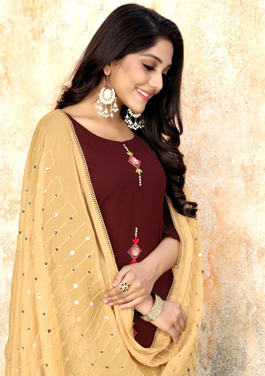 Luxuria Sathiya Kurti with Dupatta Wholesale Catalog 4 Pcs 6 - Luxuria Sathiya Kurti with Dupatta Wholesale Catalog 4 Pcs
