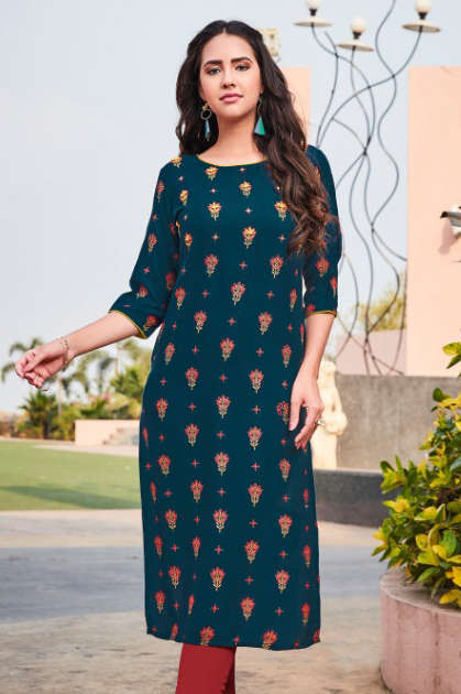 R Studio Aisha by Baanvi Kurti Wholesale Catalog 8 Pcs