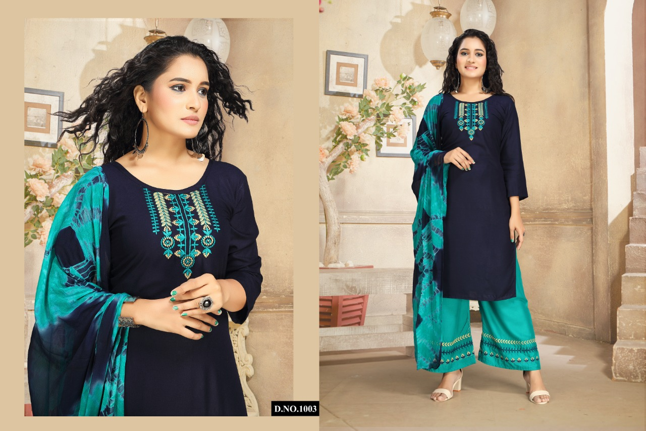 Ridhima Kurti with Dupatta Palazzo Wholesale Catalog 6 Pcs 4 - Ridhima Kurti with Dupatta Palazzo Wholesale Catalog 6 Pcs