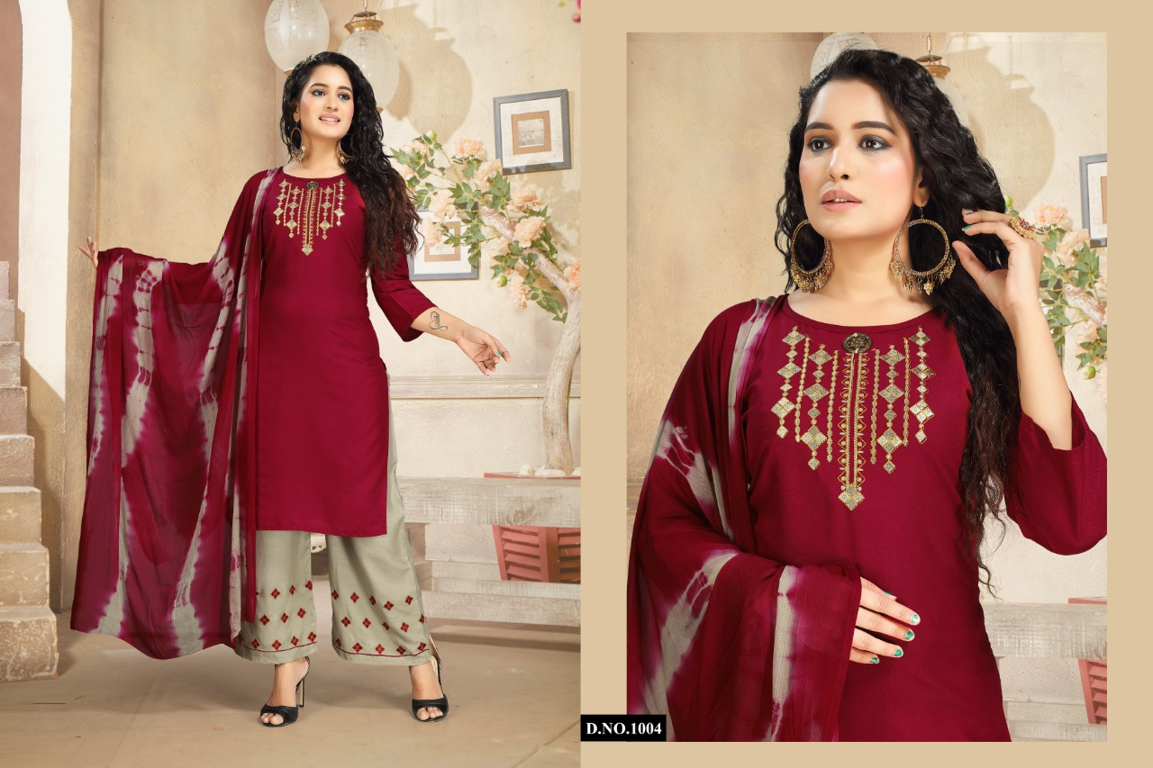 Ridhima Kurti with Dupatta Palazzo Wholesale Catalog 6 Pcs 6 - Ridhima Kurti with Dupatta Palazzo Wholesale Catalog 6 Pcs