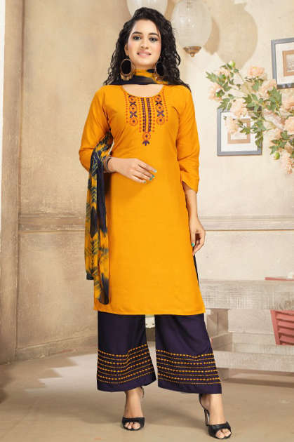 Ridhima Kurti with Dupatta Palazzo Wholesale Catalog 6 Pcs