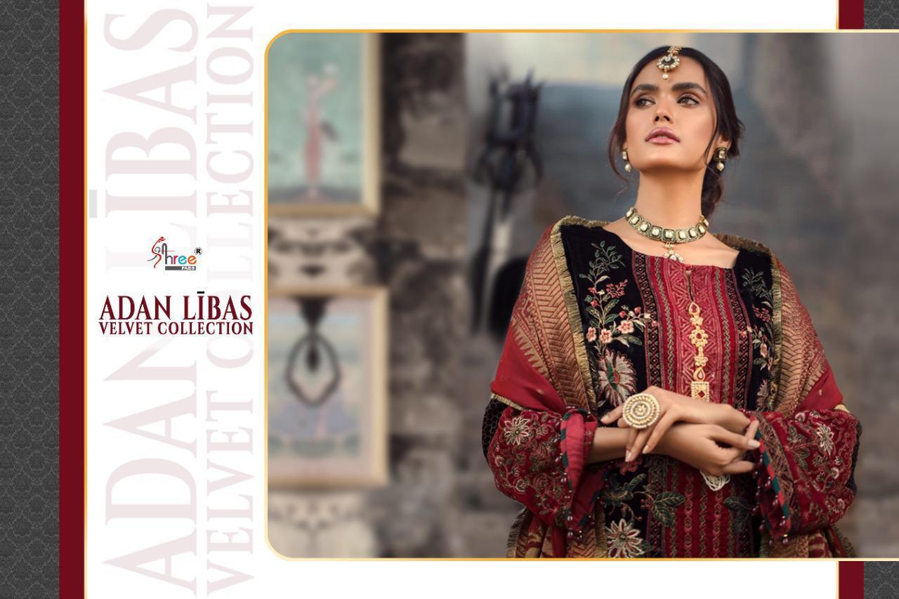 Shree Fabs Adan Libas Velvet Collection Salwar Suit Wholesale Catalog 6 Pcs 10 - Shree Fabs Adan Libas Velvet Collection Salwar Suit Wholesale Catalog 6 Pcs