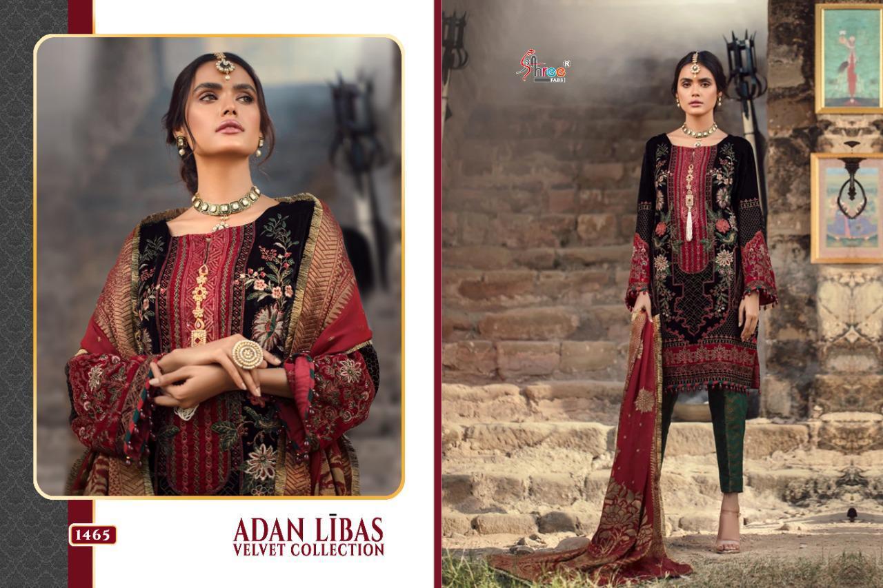 Shree Fabs Adan Libas Velvet Collection Salwar Suit Wholesale Catalog 6 Pcs 12 - Shree Fabs Adan Libas Velvet Collection Salwar Suit Wholesale Catalog 6 Pcs