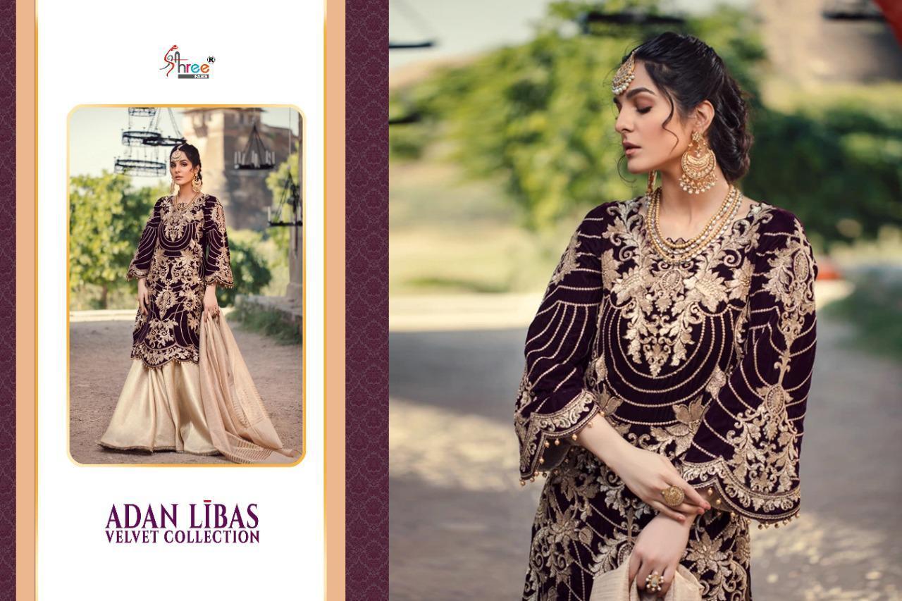 Shree Fabs Adan Libas Velvet Collection Salwar Suit Wholesale Catalog 6 Pcs 13 - Shree Fabs Adan Libas Velvet Collection Salwar Suit Wholesale Catalog 6 Pcs