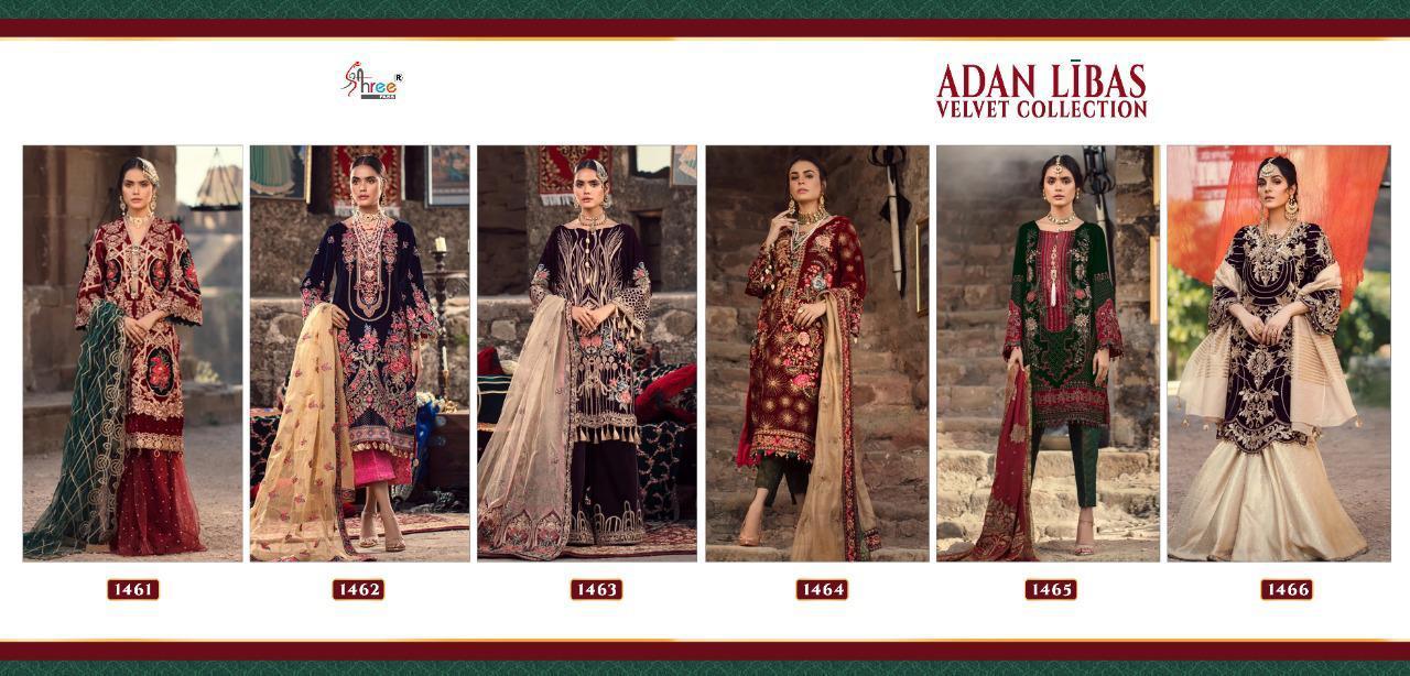 Shree Fabs Adan Libas Velvet Collection Salwar Suit Wholesale Catalog 6 Pcs 14 - Shree Fabs Adan Libas Velvet Collection Salwar Suit Wholesale Catalog 6 Pcs