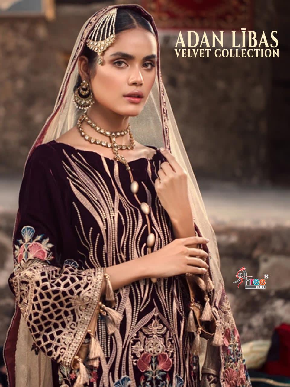 Shree Fabs Adan Libas Velvet Collection Salwar Suit Wholesale Catalog 6 Pcs 2 - Shree Fabs Adan Libas Velvet Collection Salwar Suit Wholesale Catalog 6 Pcs