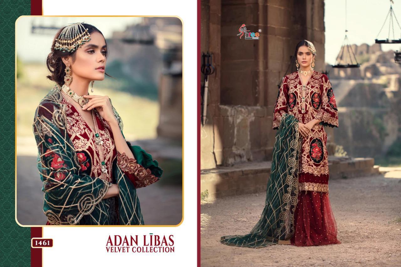 Shree Fabs Adan Libas Velvet Collection Salwar Suit Wholesale Catalog 6 Pcs 3 - Shree Fabs Adan Libas Velvet Collection Salwar Suit Wholesale Catalog 6 Pcs
