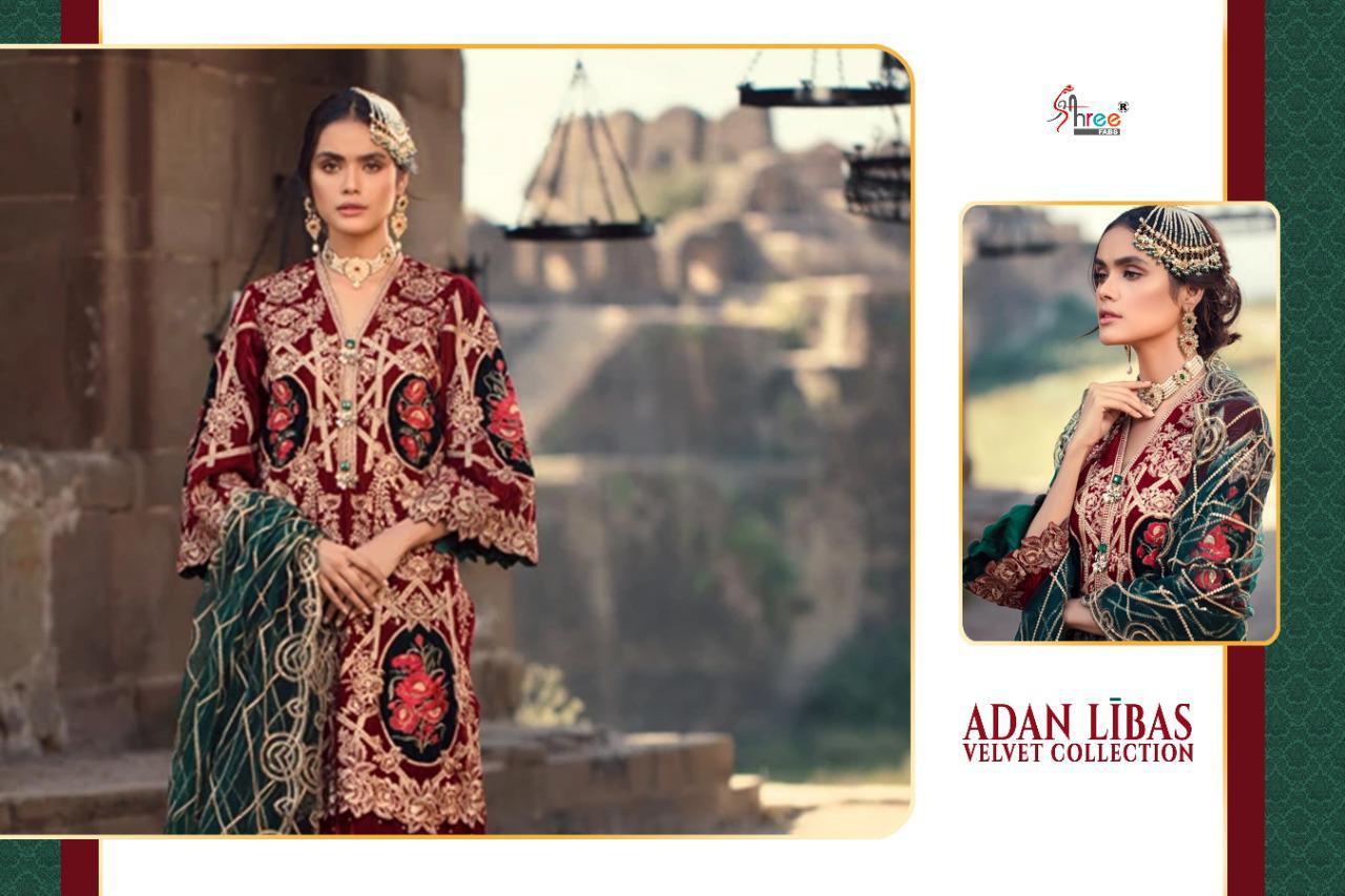 Shree Fabs Adan Libas Velvet Collection Salwar Suit Wholesale Catalog 6 Pcs 5 - Shree Fabs Adan Libas Velvet Collection Salwar Suit Wholesale Catalog 6 Pcs