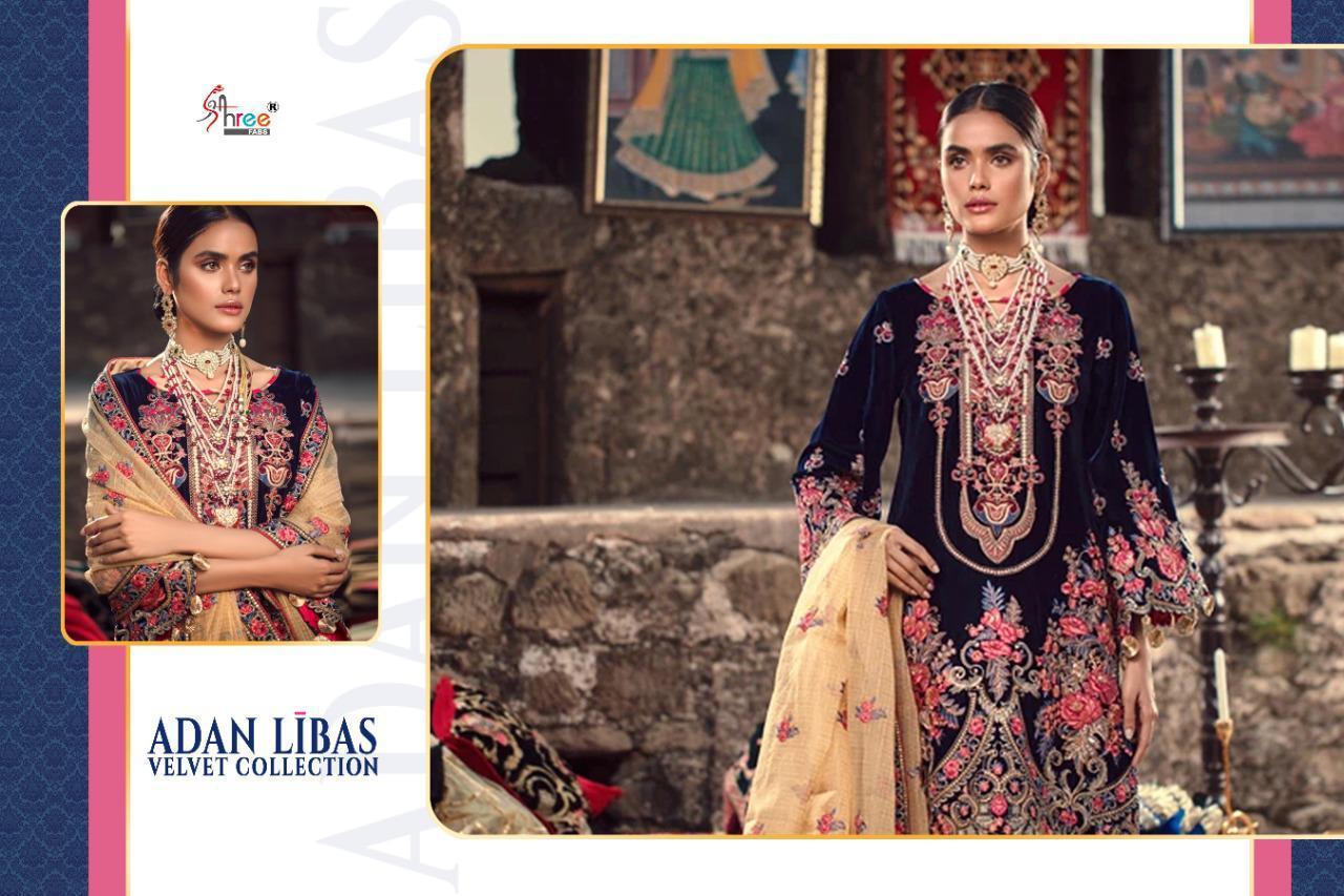 Shree Fabs Adan Libas Velvet Collection Salwar Suit Wholesale Catalog 6 Pcs 6 - Shree Fabs Adan Libas Velvet Collection Salwar Suit Wholesale Catalog 6 Pcs