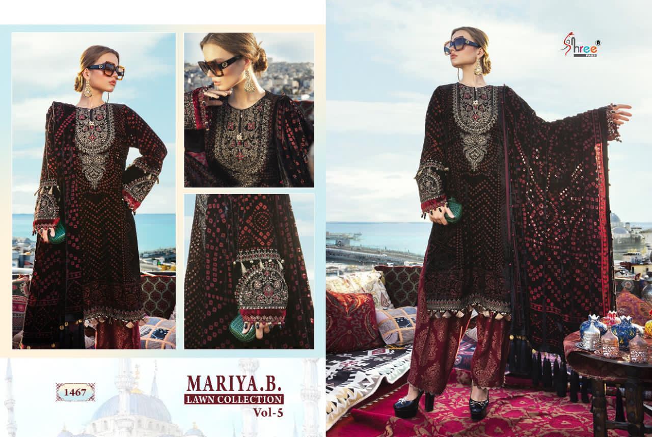 Shree Fabs Mariya B Lawn Collection Vol 5 Salwar Suit Wholesale Catalog 8 Pcs 4 - Shree Fabs Mariya B Lawn Collection Vol 5 Salwar Suit Wholesale Catalog 8 Pcs