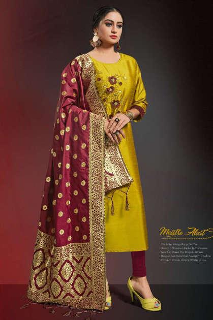 Alishka Occasion Vol 3 Kurti with Dupatta Wholesale Catalog 6 Pcs