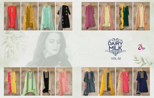 Angroop Dairy Milk Vol 32 Salwar Suit Wholesale Catalog 16 Pcs 19 510x324 - Angroop Dairy Milk Vol 32 Salwar Suit Wholesale Catalog 16 Pcs
