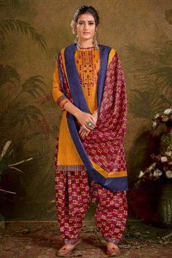 Balaji Cotton Rasberry Patiyala Vol 5 Salwar Suit Wholesale Catalog 12 Pcs
