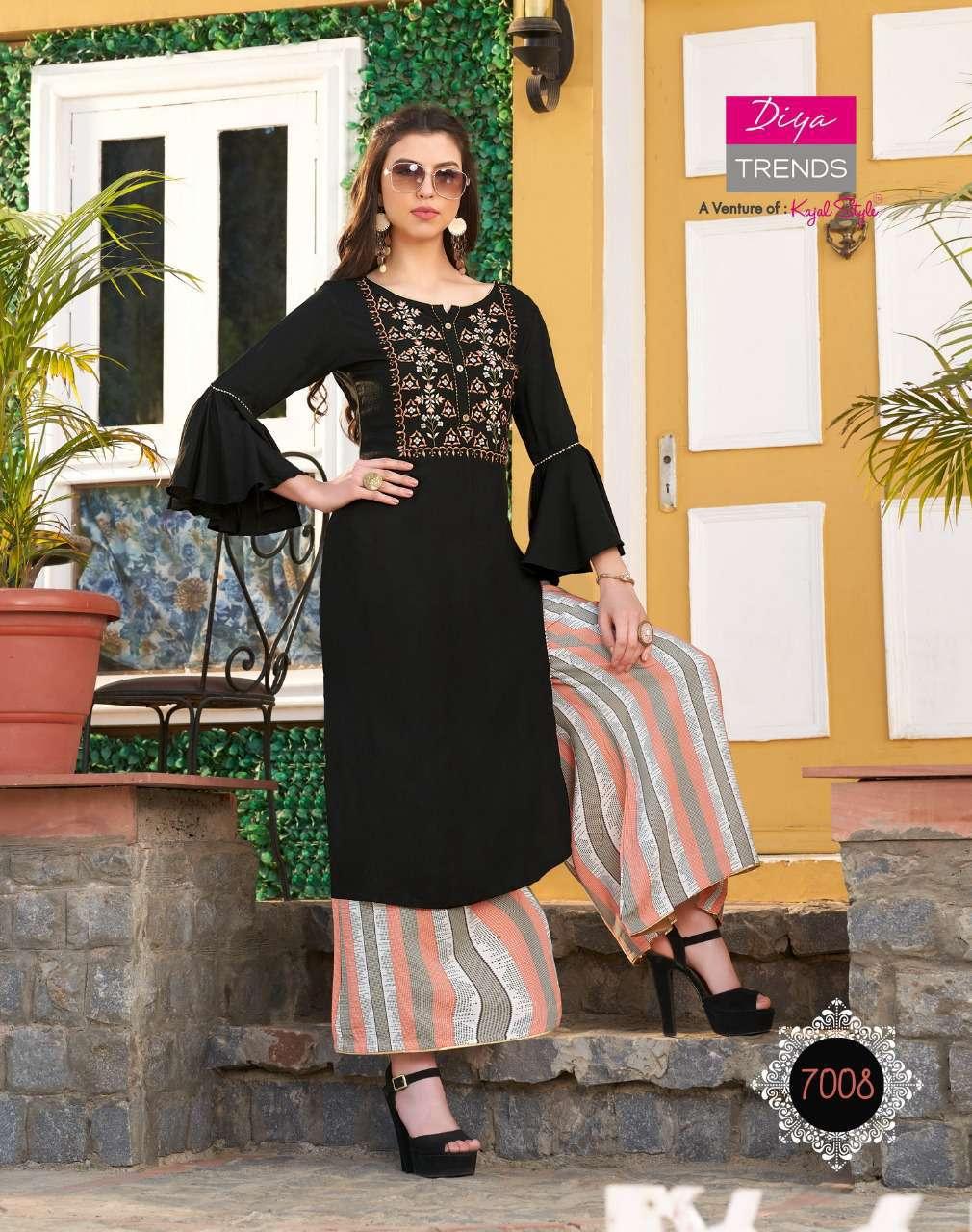 Diya Trends Bibas Vol 7 by Kajal Style Kurti with Palazzo Pant Wholesale Catalog 14 Pcs 12 - Diya Trends Biba's Vol 7 by Kajal Style Kurti with Palazzo Pant Wholesale Catalog 14 Pcs