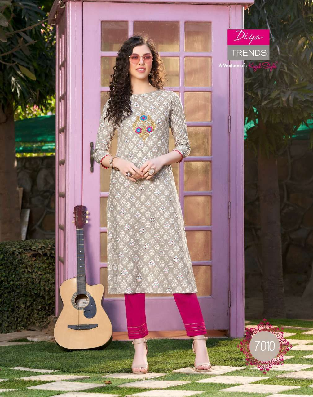 Diya Trends Bibas Vol 7 by Kajal Style Kurti with Palazzo Pant Wholesale Catalog 14 Pcs 13 - Diya Trends Biba's Vol 7 by Kajal Style Kurti with Palazzo Pant Wholesale Catalog 14 Pcs