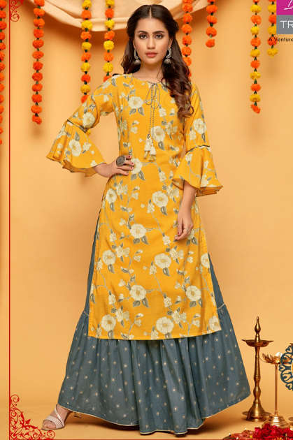 Diya Trends Fashion Mania Vol 1 by Kajal Style Kurti Wholesale Catalog 6 Pcs - Diya Trends Fashion Mania Vol 1 by Kajal Style Kurti Wholesale Catalog 6 Pcs