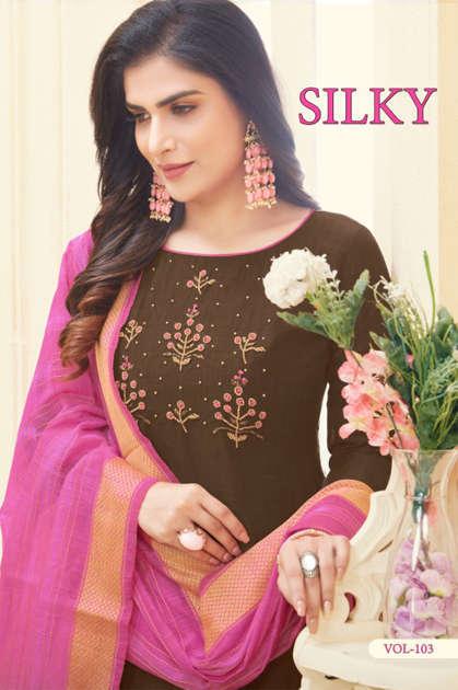 Fashion Floor Silky Salwar Suit Wholesale Catalog 12 Pcs - Fashion Floor Silky Salwar Suit Wholesale Catalog 12 Pcs