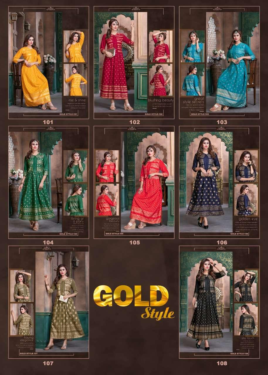 Gold Style Kurti Wholesale Catalog 8 Pcs 11 - Gold Style Kurti Wholesale Catalog 8 Pcs
