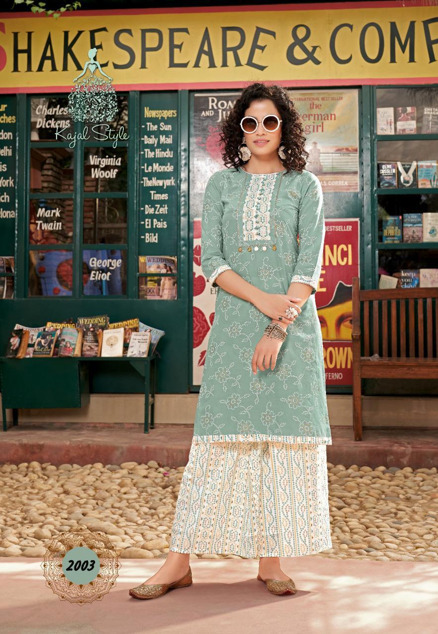 Kajal Style Fashion Galaxy Vol 2 Kurti with Palazzo Pant Sharara Wholesale Catalog 6 Pcs 2 - Kajal Style Fashion Galaxy Vol 2 Kurti with Palazzo Pant Sharara Wholesale Catalog 6 Pcs