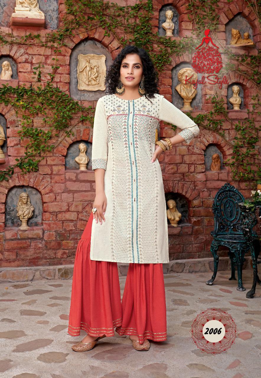 Kajal Style Fashion Galaxy Vol 2 Kurti with Palazzo Pant Sharara Wholesale Catalog 6 Pcs 7 - Kajal Style Fashion Galaxy Vol 2 Kurti with Palazzo Pant Sharara Wholesale Catalog 6 Pcs