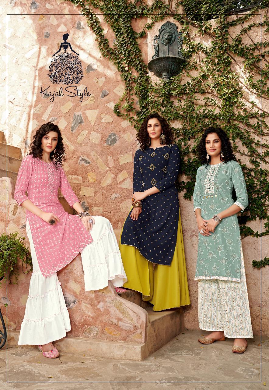 Kajal Style Fashion Galaxy Vol 2 Kurti with Palazzo Pant Sharara Wholesale Catalog 6 Pcs 8 - Kajal Style Fashion Galaxy Vol 2 Kurti with Palazzo Pant Sharara Wholesale Catalog 6 Pcs