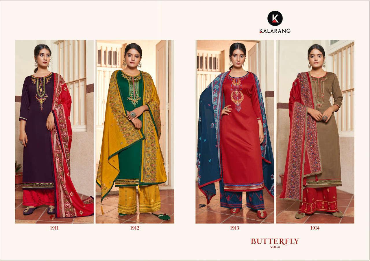 Kalarang Butterfly Vol 3 by Kessi Salwar Suit Wholesale Catalog 4 Pcs 6 - Kalarang Butterfly Vol 3 by Kessi Salwar Suit Wholesale Catalog 4 Pcs