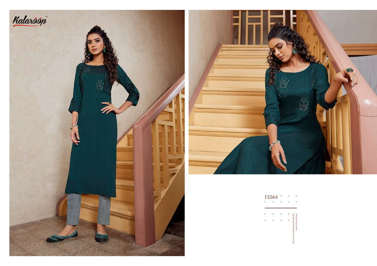 Kalaroop Octavia Vol 4 by Kajree Kurti Wholesale Catalog 6 Pcs 1 - Kalaroop Octavia Vol 4 by Kajree Kurti Wholesale Catalog 6 Pcs
