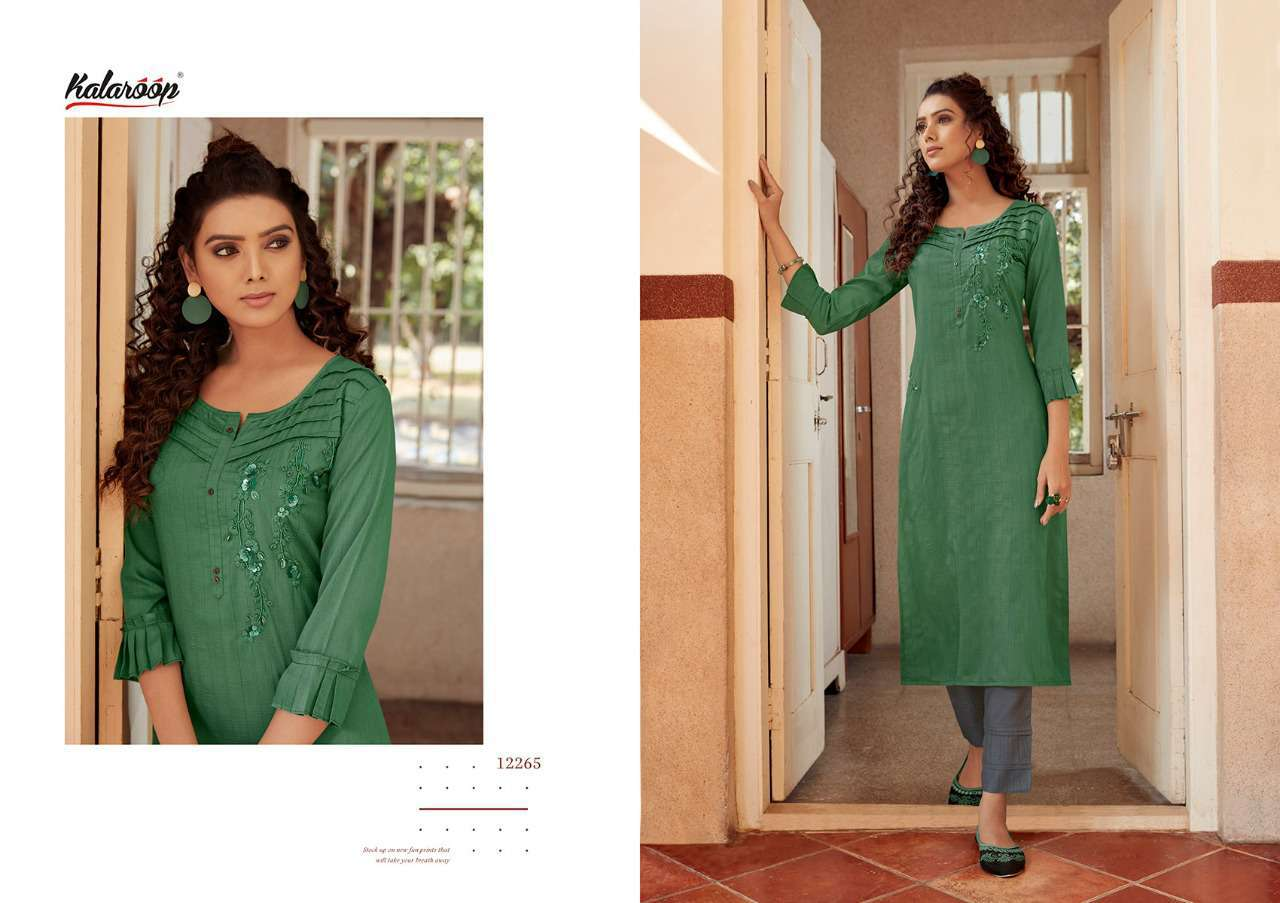 Kalaroop Octavia Vol 4 by Kajree Kurti Wholesale Catalog 6 Pcs 4 - Kalaroop Octavia Vol 4 by Kajree Kurti Wholesale Catalog 6 Pcs