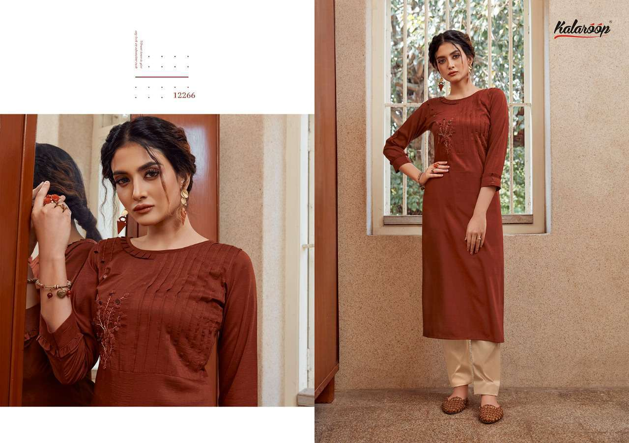 Kalaroop Octavia Vol 4 by Kajree Kurti Wholesale Catalog 6 Pcs 7 - Kalaroop Octavia Vol 4 by Kajree Kurti Wholesale Catalog 6 Pcs