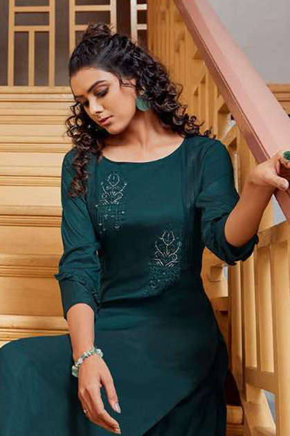 Kalaroop Octavia Vol 4 by Kajree Kurti Wholesale Catalog 6 Pcs