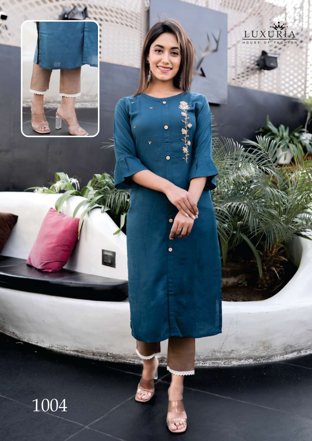 Luxuria Carnival Kurti with Pant Wholesale Catalog 5 Pcs 4 - Luxuria Carnival Kurti with Pant Wholesale Catalog 5 Pcs