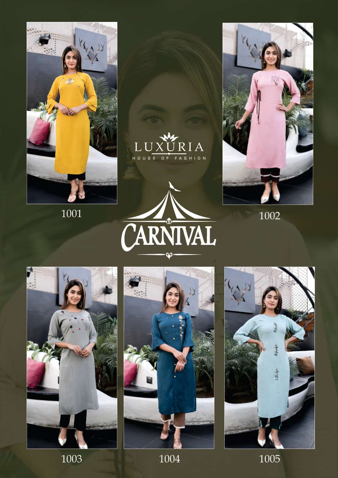 Luxuria Carnival Kurti with Pant Wholesale Catalog 5 Pcs 7 - Luxuria Carnival Kurti with Pant Wholesale Catalog 5 Pcs
