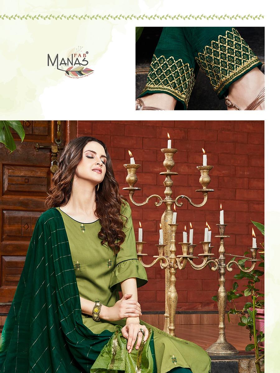 Manas Delight Kurti with Dupatta Bottom Wholesale Catalog 6 Pcs 5 - Manas Delight Kurti with Dupatta Bottom Wholesale Catalog 6 Pcs