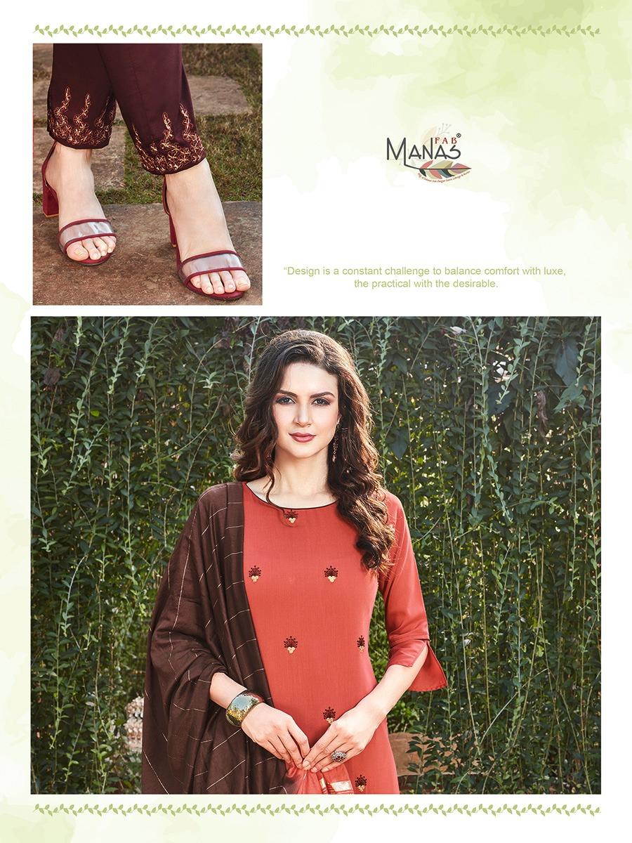 Manas Delight Kurti with Dupatta Bottom Wholesale Catalog 6 Pcs 7 - Manas Delight Kurti with Dupatta Bottom Wholesale Catalog 6 Pcs