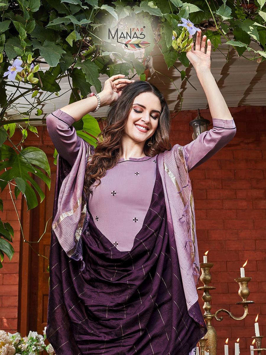 Manas Delight Kurti with Dupatta Bottom Wholesale Catalog 6 Pcs 8 - Manas Delight Kurti with Dupatta Bottom Wholesale Catalog 6 Pcs