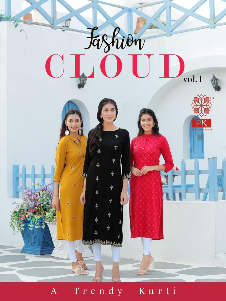 Pk Fashion Cloud Vol 1 Kurti Wholesale Catalog 6 Pcs 1 - Pk Fashion Cloud Vol 1 Kurti Wholesale Catalog 6 Pcs