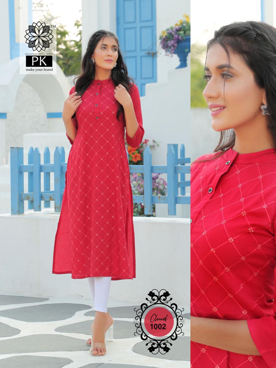 Pk Fashion Cloud Vol 1 Kurti Wholesale Catalog 6 Pcs 4 - Pk Fashion Cloud Vol 1 Kurti Wholesale Catalog 6 Pcs